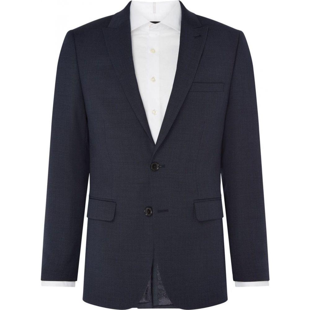 サイモン カーター Simon Carter メンズ スーツ・ジャケット アウター【mini geo texture suit jacket】Navy