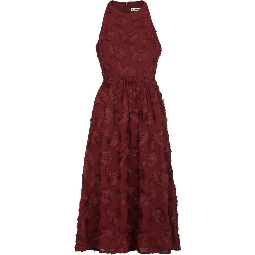 ホイッスルズ Whistles レディース ワンピース ワンピース・ドレス【applique textured dress】Burgundy