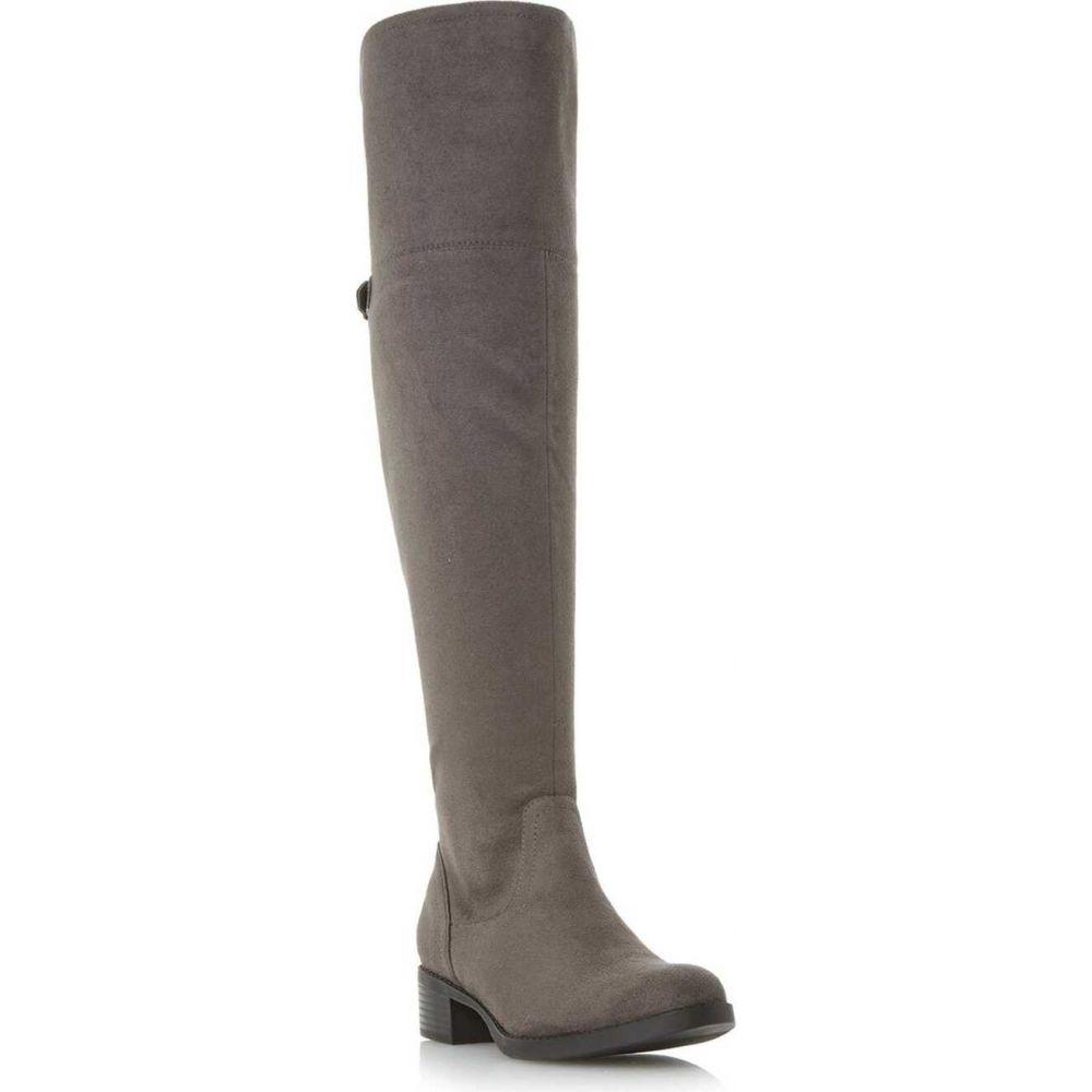 ヘッドオーバーヒールズ Head Over Heels レディース ブーツ ニーハイブーツ シューズ・靴【tullulah buckle strap over the knee boots】Grey