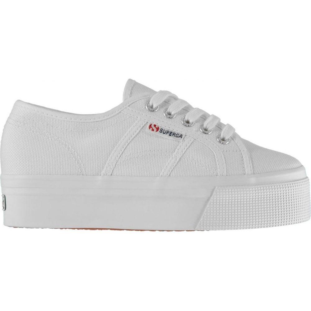 white platform canvas trainers