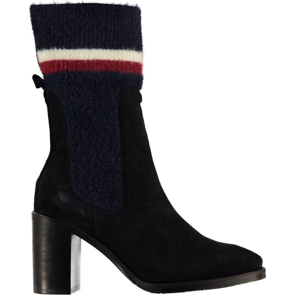 トミー ヒルフィガー Tommy Hilfiger レディース ブーツ シューズ・靴【high sock boots】Midnight CKI