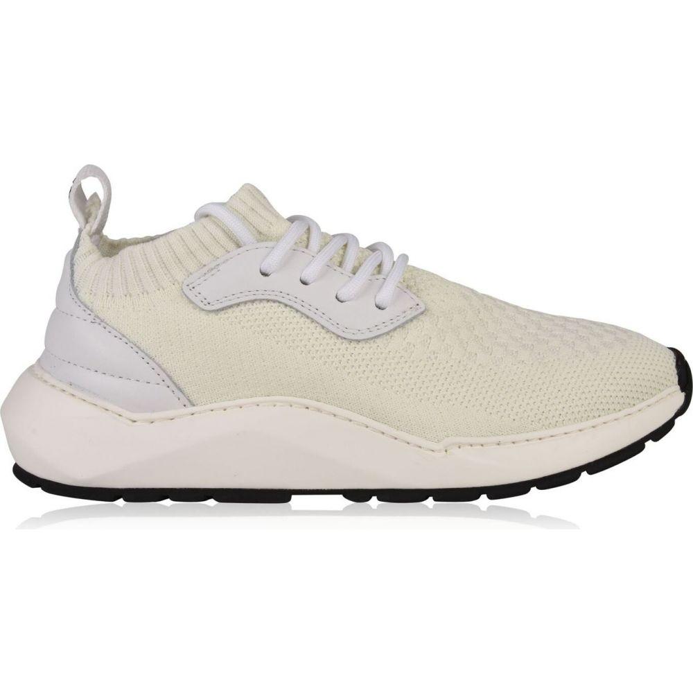 フィリング ピース FILLING PIECES レディース スニーカー シューズ・靴【knit arch trainers】White