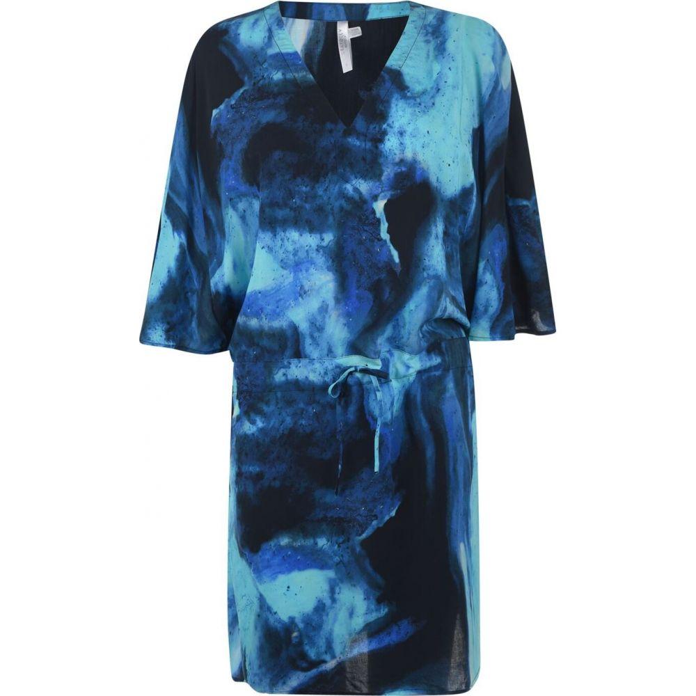 シーフォリー Seafolly レディース ビーチウェア カフタン 水着・ビーチウェア【sfolly ombre kaftan】Blue Opal