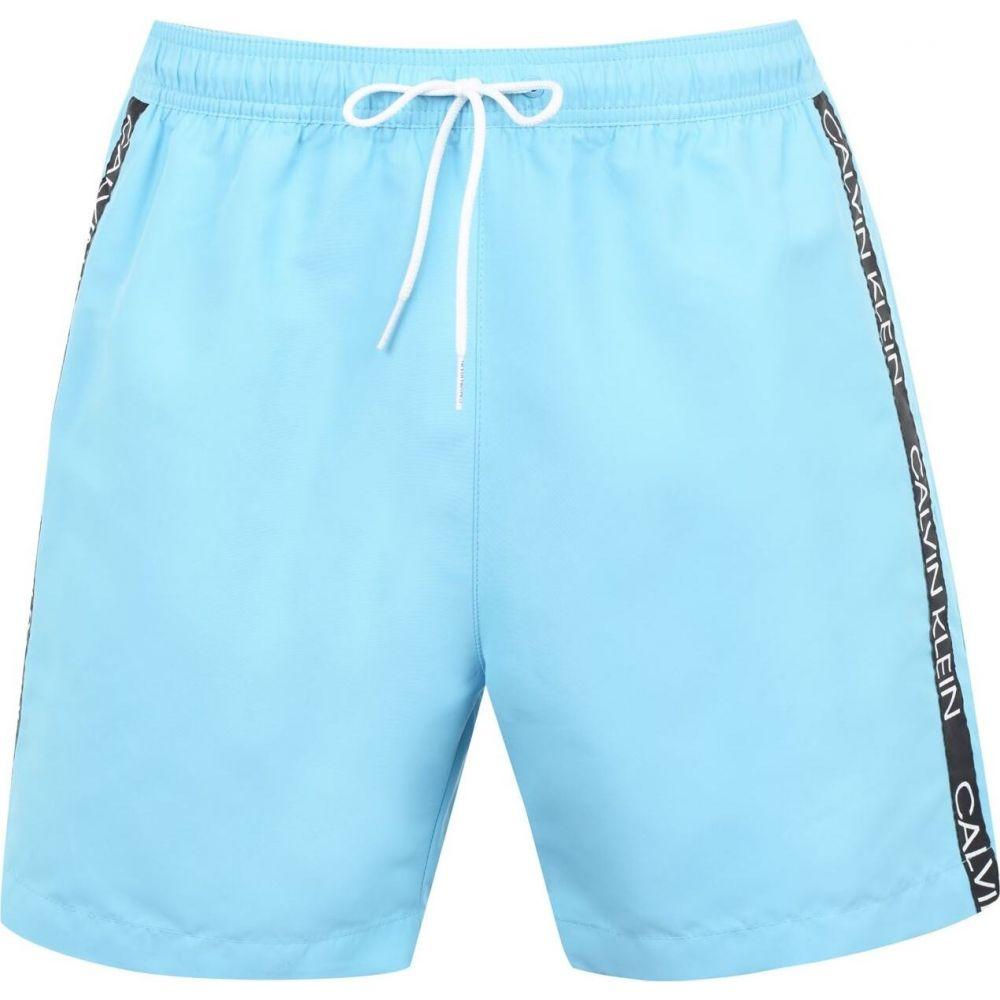 カルバンクライン Calvin Klein メンズ 海パン ショートパンツ 水着・ビーチウェア【side tape medium swim shorts】Blue Fish
