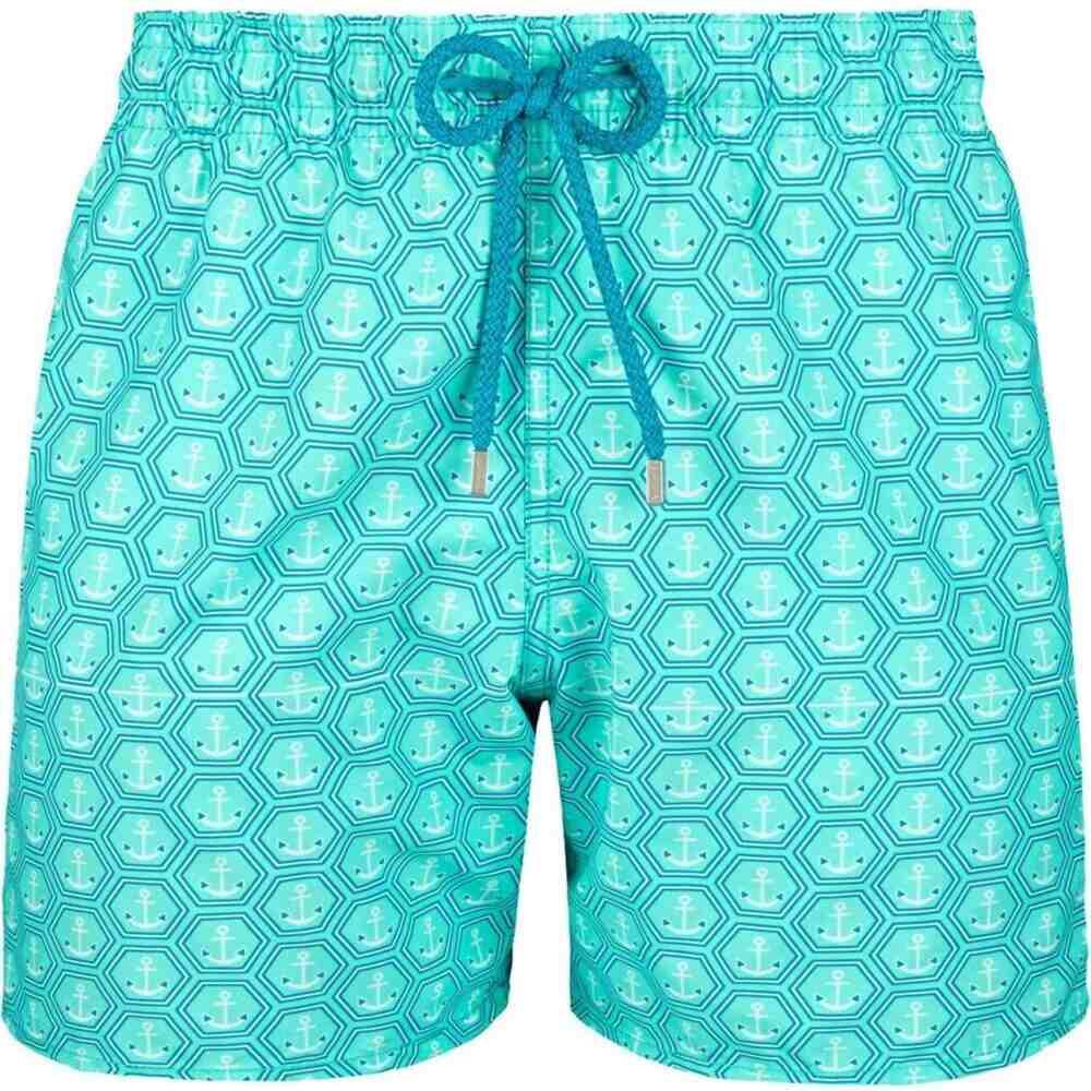 ヴィルブレクイン VILEBREQUIN メンズ 海パン ショートパンツ 水着・ビーチウェア【anchor pattern swim shorts】Aqua