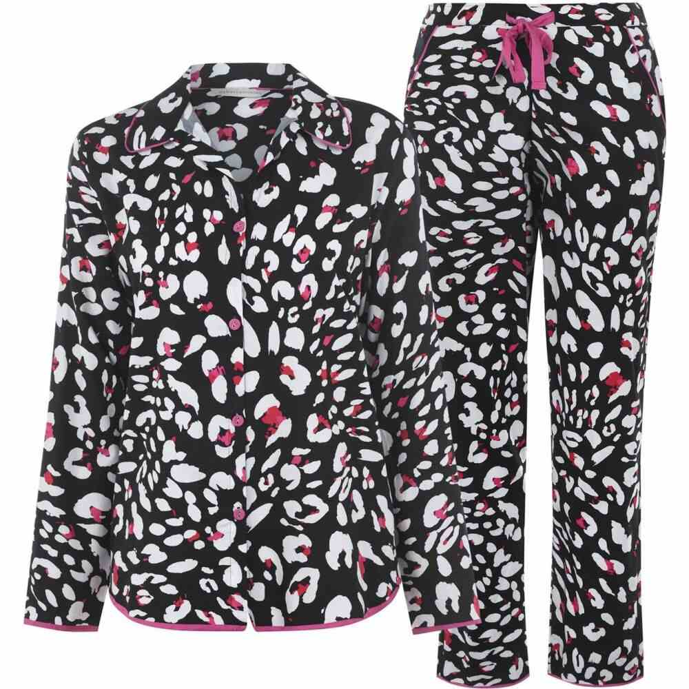 サイバーキュティーズ Cyberjammies レディース パジャマ・上下セット インナー・下着【animal print pyjama set】Black Multi