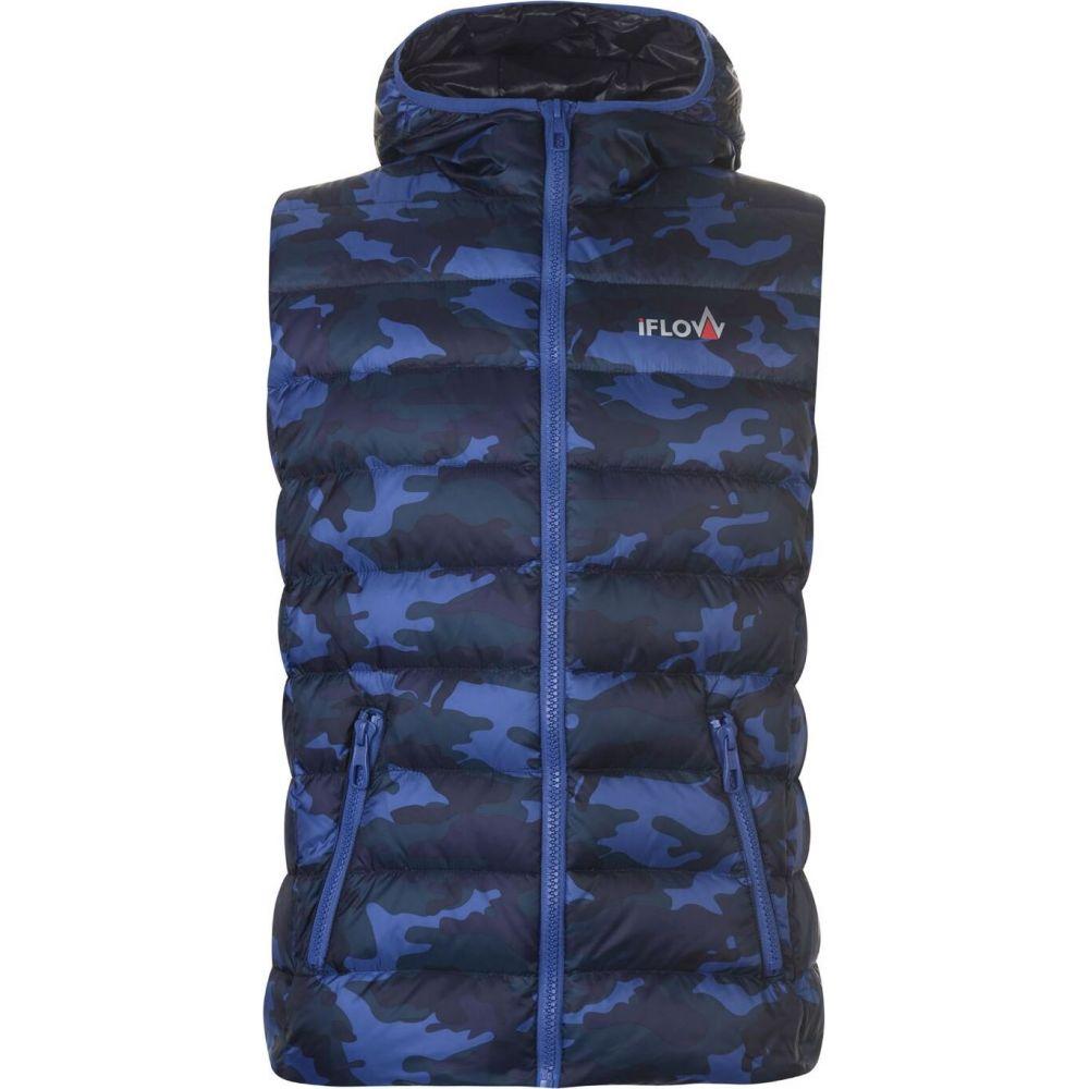 IFlow メンズ ベスト・ジレ トップス【camouflage series vest】Blue Camo