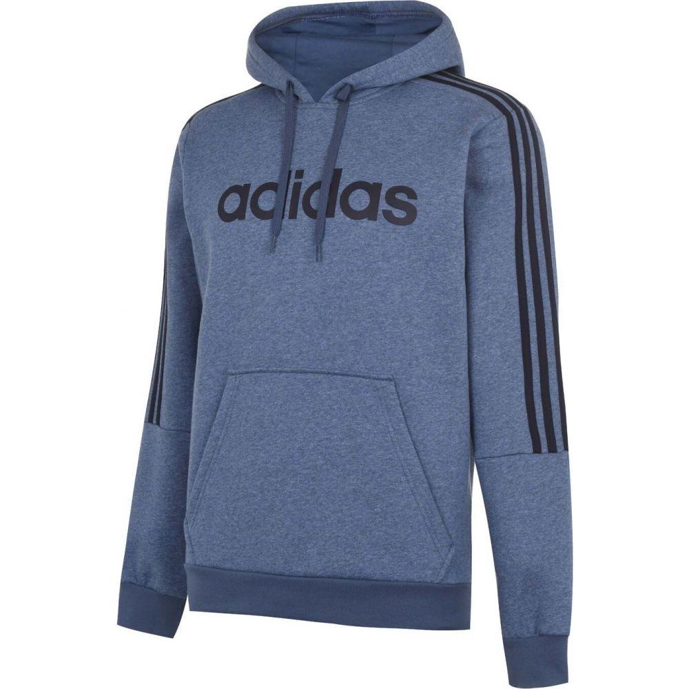 アディダス adidas メンズ パーカー トップス【3 stripes logo over the head hoody】LtBlueMarl/Navy