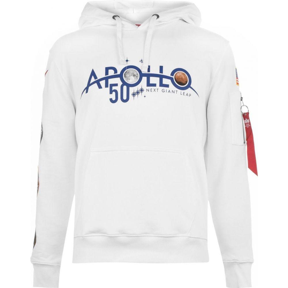 アルファ インダストリーズ Alpha Industries メンズ パーカー トップス【apollo 11 anniversary badge hoodie】White