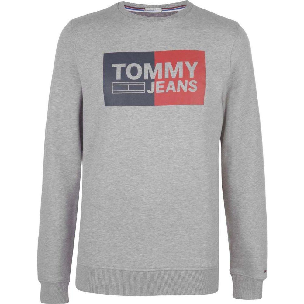 トミー ジーンズ Tommy Jeans メンズ スウェット・トレーナー トップス【Essential Block Logo Sweatshirt】Lt Grey Htr