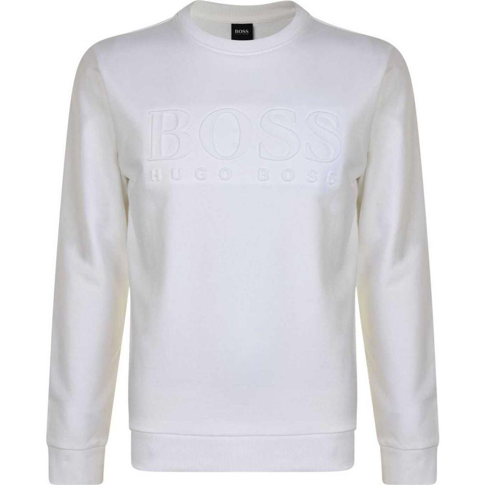 ヒューゴ ボス BOSS BODYWEAR メンズ スウェット・トレーナー トップス【Hertitage Logo Crew Sweatshirt】White