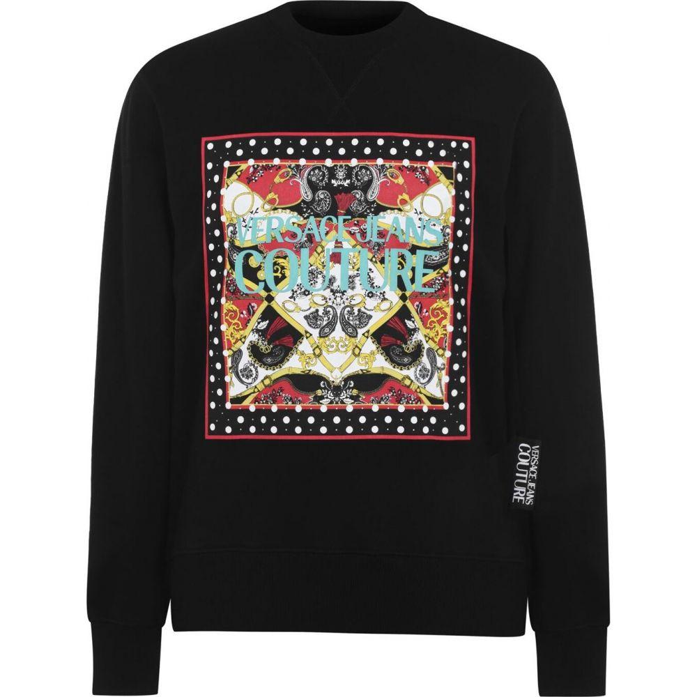 ヴェルサーチ VERSACE JEANS COUTURE メンズ スウェット・トレーナー トップス【Patch Bandana Sweatshirt】Black