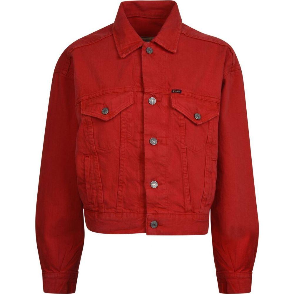 ラルフ ローレン POLO RALPH LAUREN レディース ジャケット Gジャン アウター【Cropped Denim Jacket】Red
