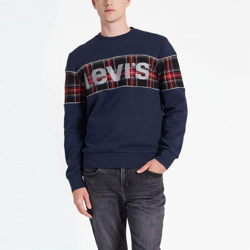 リーバイス Levis メンズ スウェット・トレーナー トップス【Reflective Crew Sweatshirt】Dress Blue
