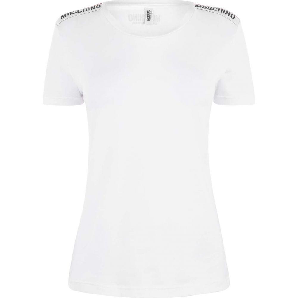 モスキーノ MOSCHINO レディース Tシャツ トップス【Taping T Shirt】White