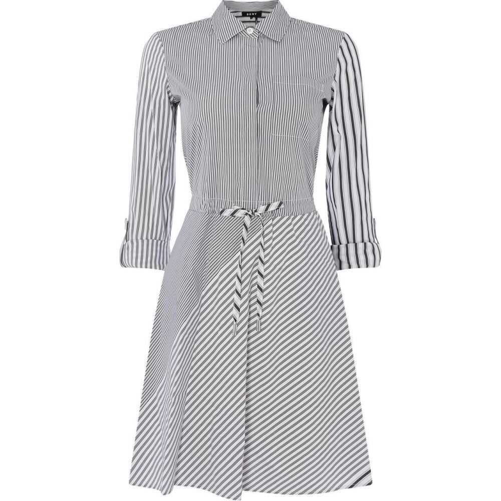 ダナ キャラン ニューヨーク DKNY レディース ワンピース ワンピース・ドレス【Long Sleeve Button Dress】White/Black