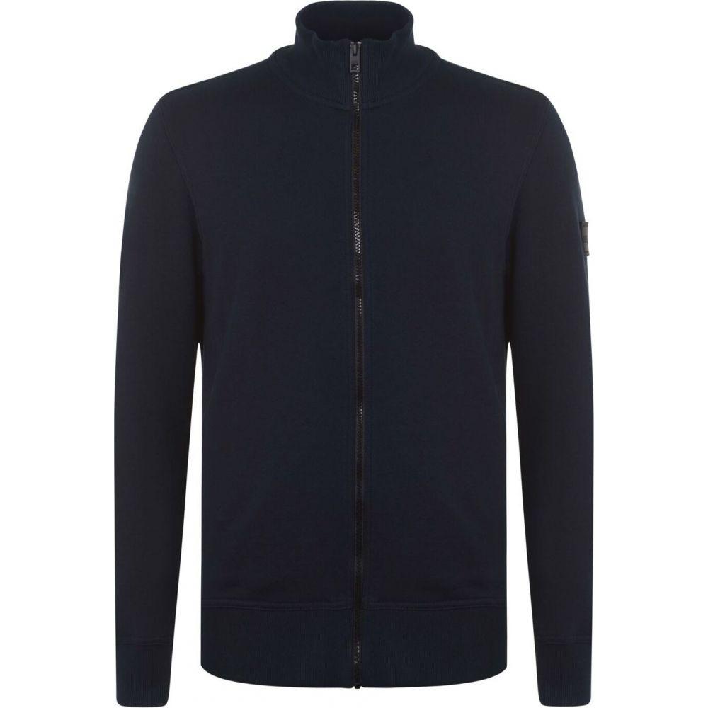 ヒューゴ ボス BOSS メンズ スウェット・トレーナー トップス【Skiles Zip Sweatshirt】Navy