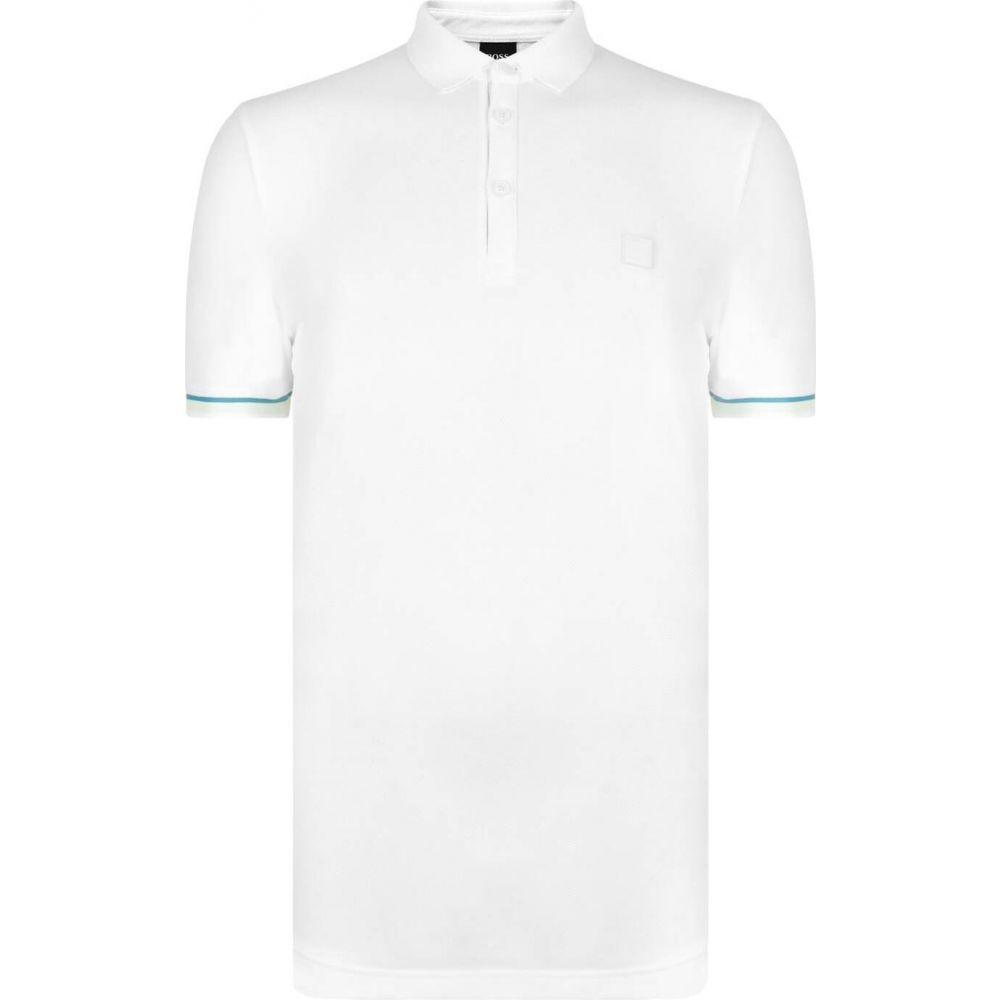 完成品 ヒューゴ ヒューゴ ボス メンズ Boss メンズ ポロシャツ Polo トップス【Rubber Logo Polo Shirt】White, 北海道 スイートますや:b664c08d --- coursedive.com
