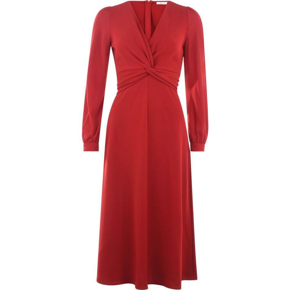 イブルース Iblues レディース ワンピース マキシ丈 ワンピース・ドレス【Maxi Long Sleeve Dress】RED