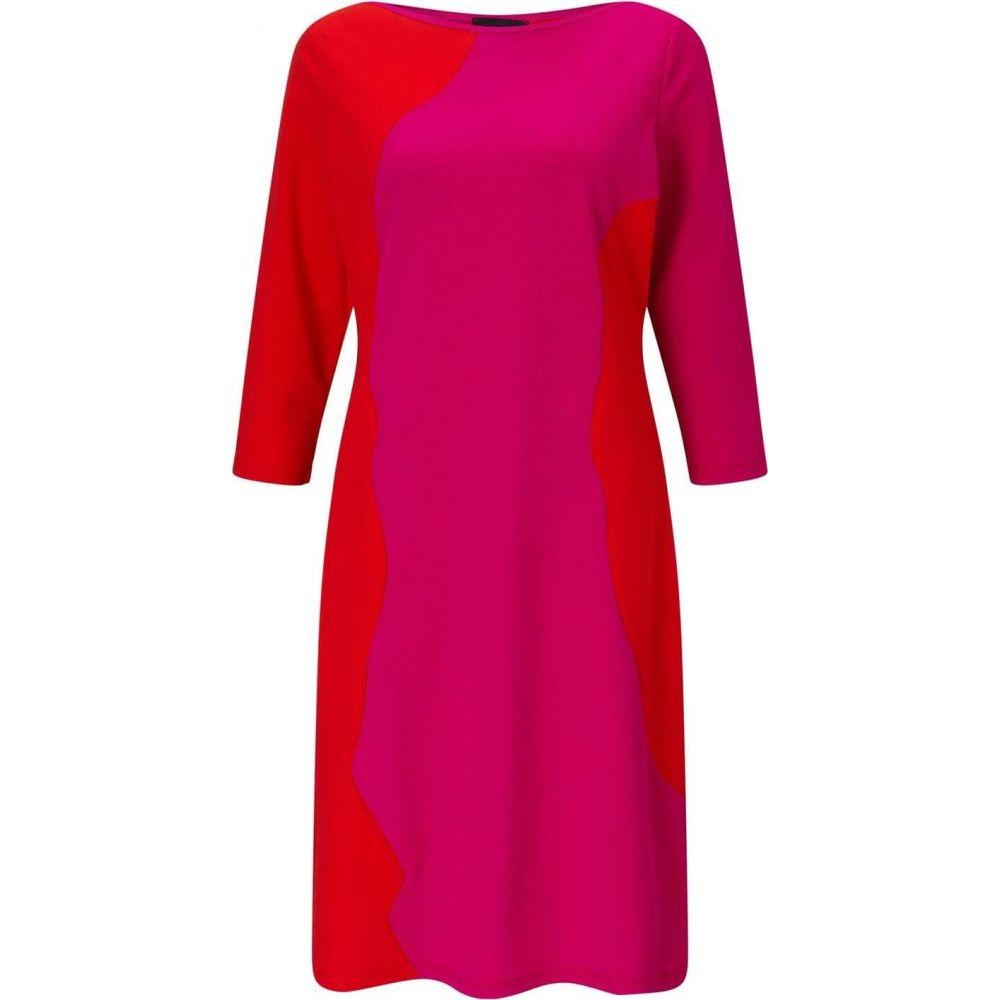 ジュームズ レイクランド James Lakeland レディース パーティードレス ワンピース・ドレス【Bicolour three quarter Sleeve Dress】Fuchsia