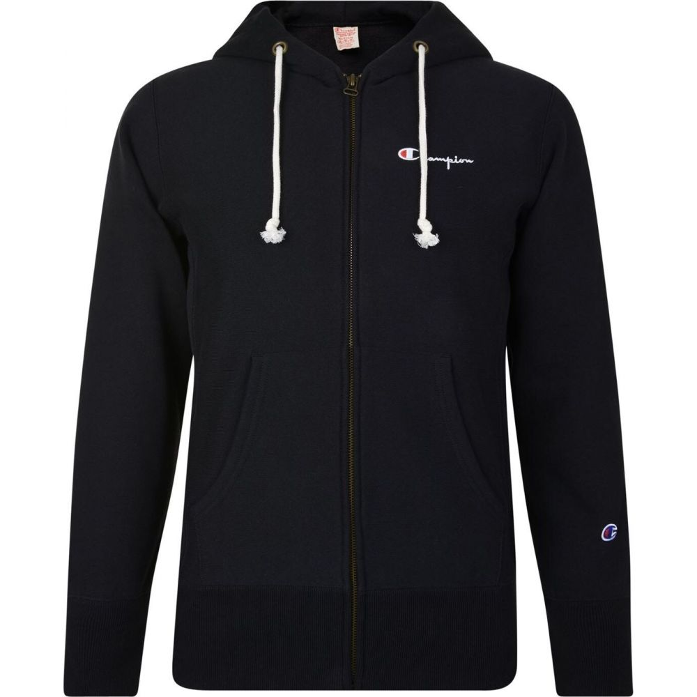 チャンピオン メンズ ストア トップス パーカー Black サイズ交換無料 Terry Reverse 物品 CHAMPION Hooded Sweatshirt Zip