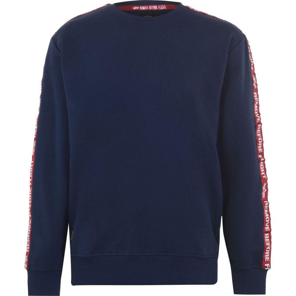 アルファ インダストリーズ Alpha Industries メンズ スウェット・トレーナー トップス【Rbf Tape Sweater】Navy