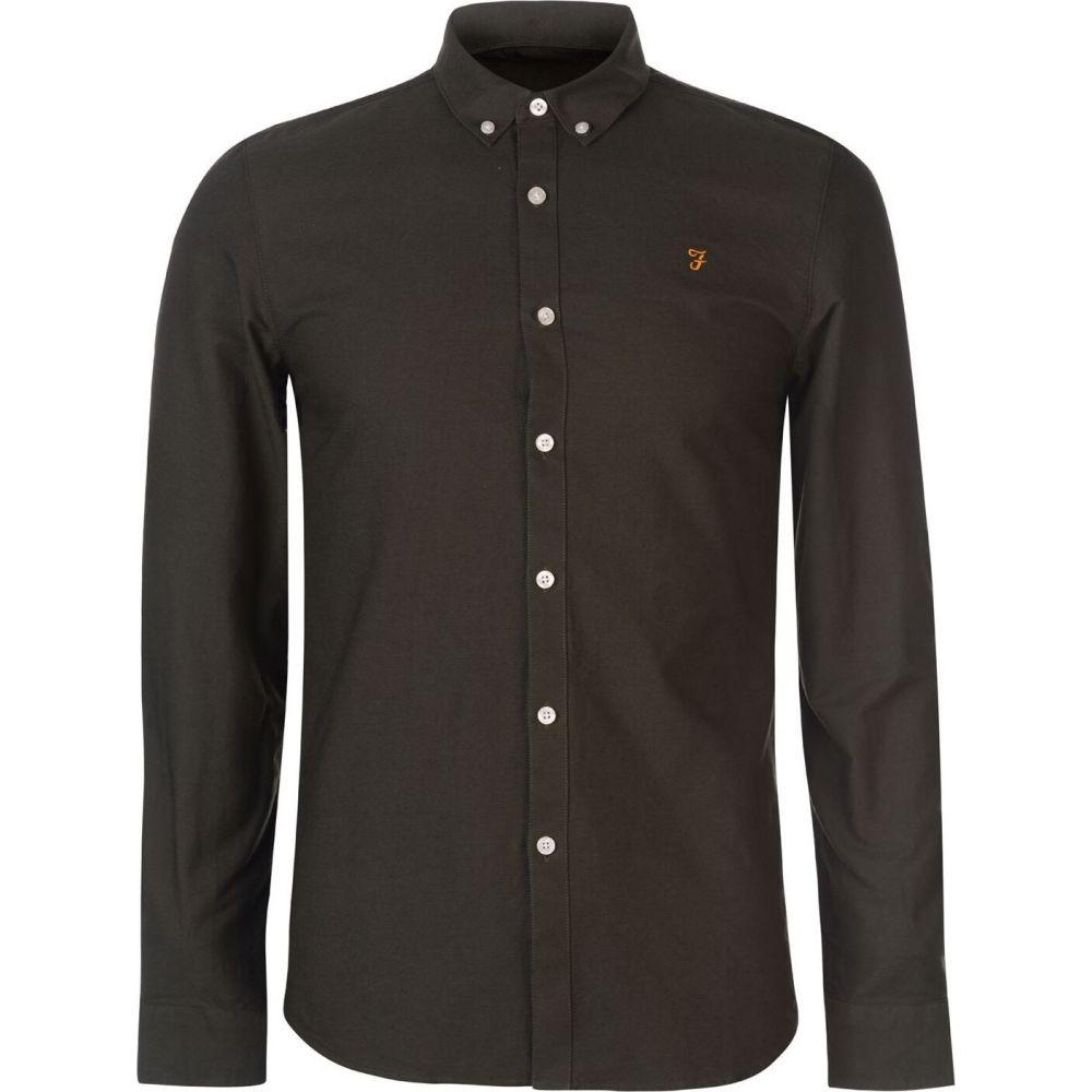 Green Sleeve Farah シャツ メンズ Shirt】Dark Vintage トップス【Oxford ファーラーヴィンテージ Long