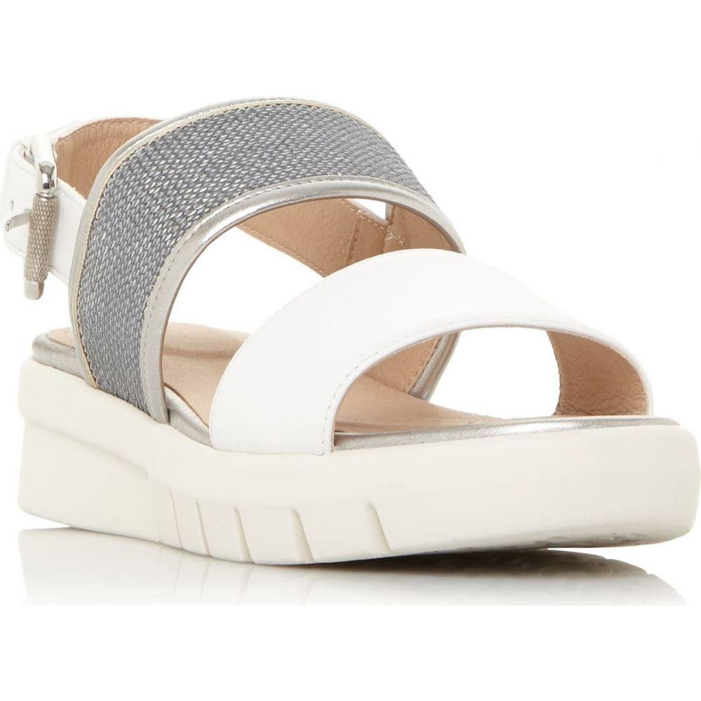 ジェオックス Geox レディース サンダル・ミュール シューズ・靴【D Wimbley Sand Sequin Buckle Sandals】White