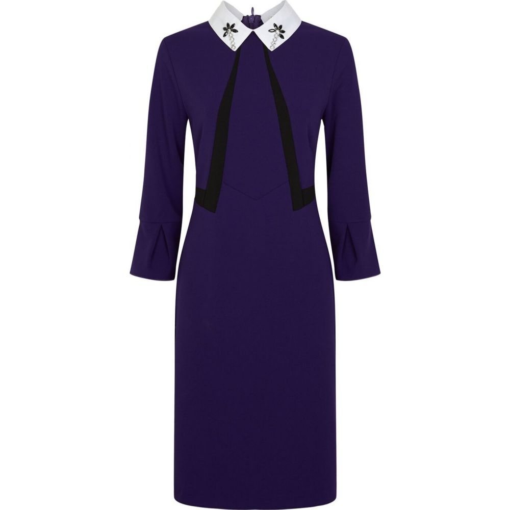 ジュームズ レイクランド James Lakeland レディース ワンピース ワンピース・ドレス【Embellished Collar Dress】Purple