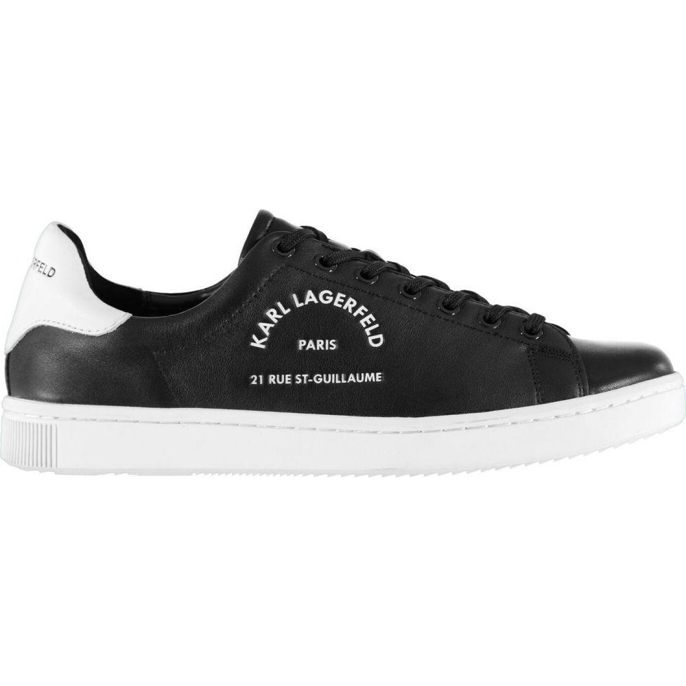 カール ラガーフェルド メンズ シューズ 靴 スニーカー Black Trainers Kourt Lthr Maison Lagerfeld 賜物 サービス Karl サイズ交換無料
