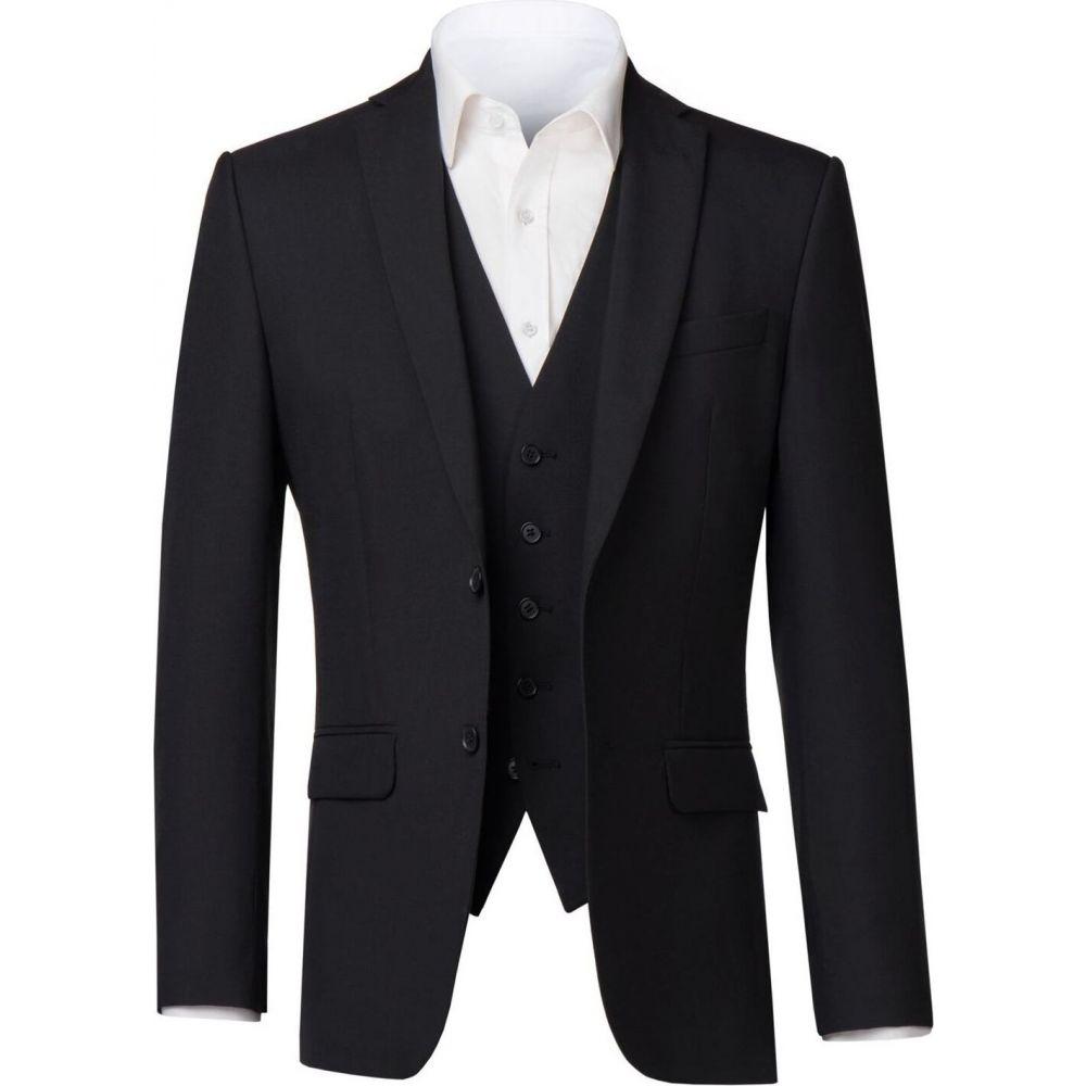 レーシング グリーン Racing Green メンズ スーツ・ジャケット アウター【Anton Black Suit Jacket】Black