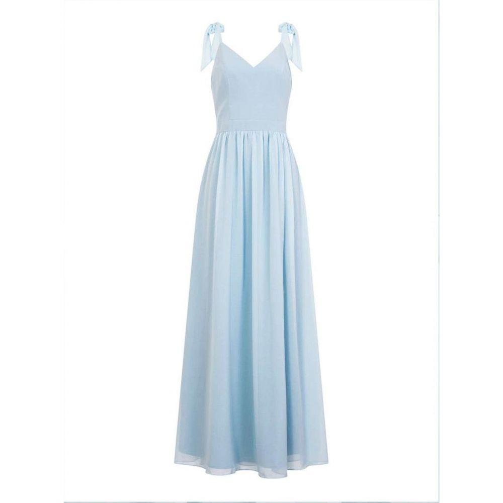 チチ Chi Chi レディース パーティードレス マキシ丈 ワンピース・ドレス【Bow Shoulder Maxi Dress】Blue