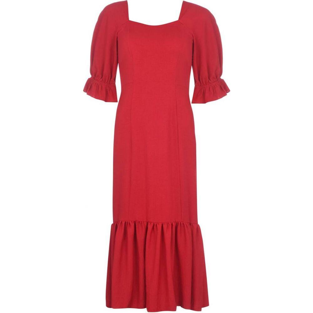 ビバ Biba レディース ワンピース ワンピース・ドレス【Square Neck Linen Dress】Red