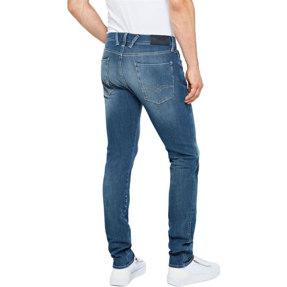 リプレイ Replay メンズ ジーンズ・デニム ボトムス・パンツ【Anbass Hyperflex+ Jeans Slim Fit】Mid Blue