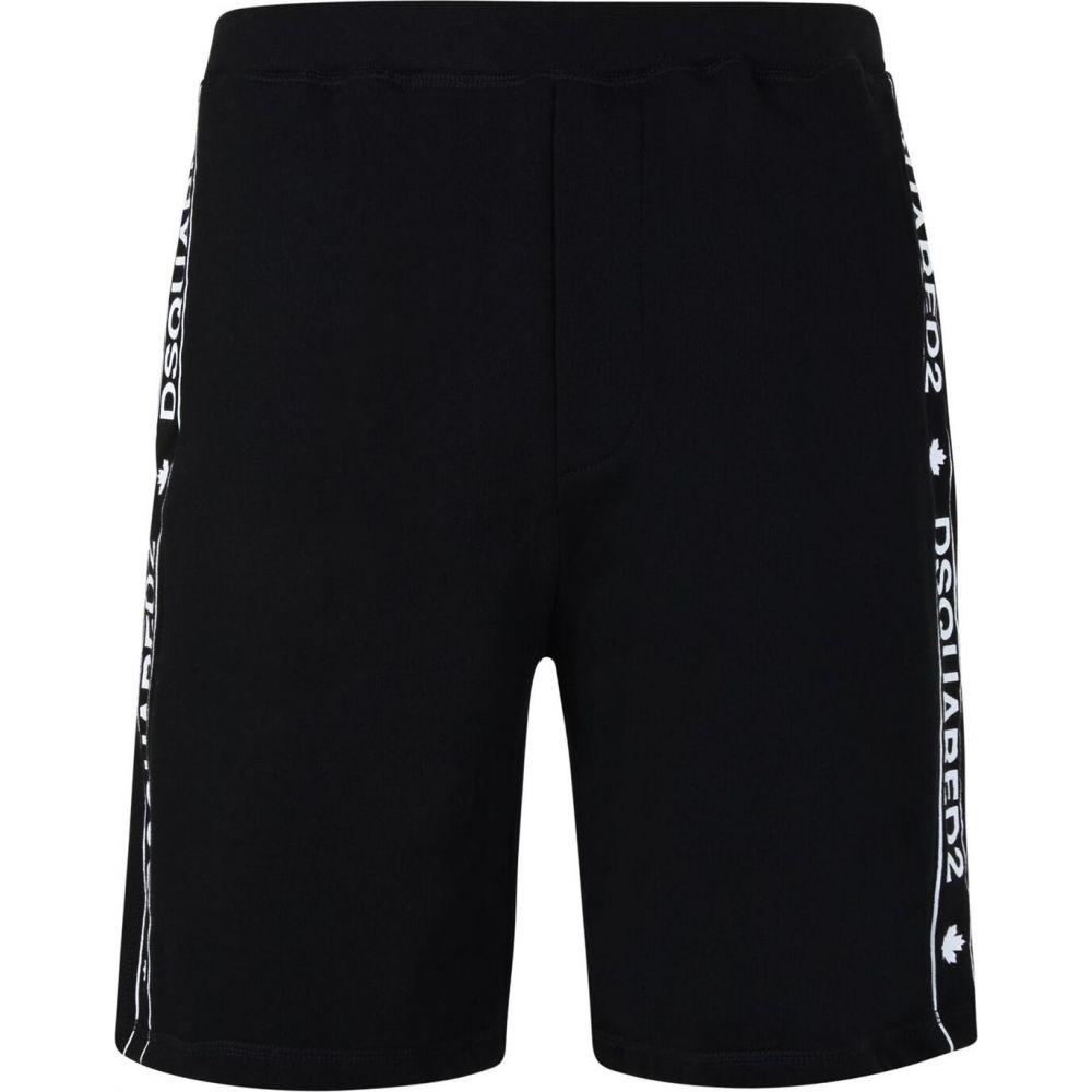 ディースクエアード メンズ ランニング ウォーキング ボトムス 上質 パンツ Black ショートパンツ Logo Tape サイズ交換無料 価格 DSQUARED2 Shorts