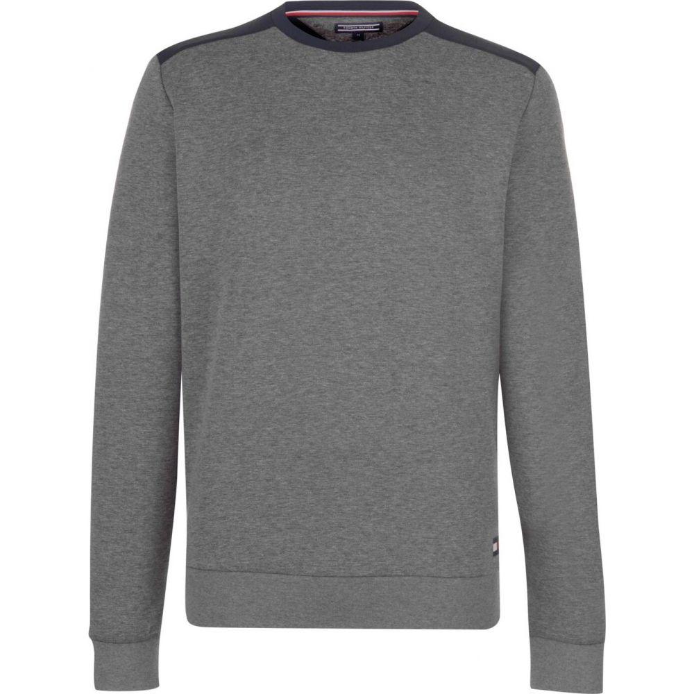 トミー ヒルフィガー Tommy Bodywear メンズ スウェット・トレーナー トップス【Track Long Sleeve Sweater】Grey Heather
