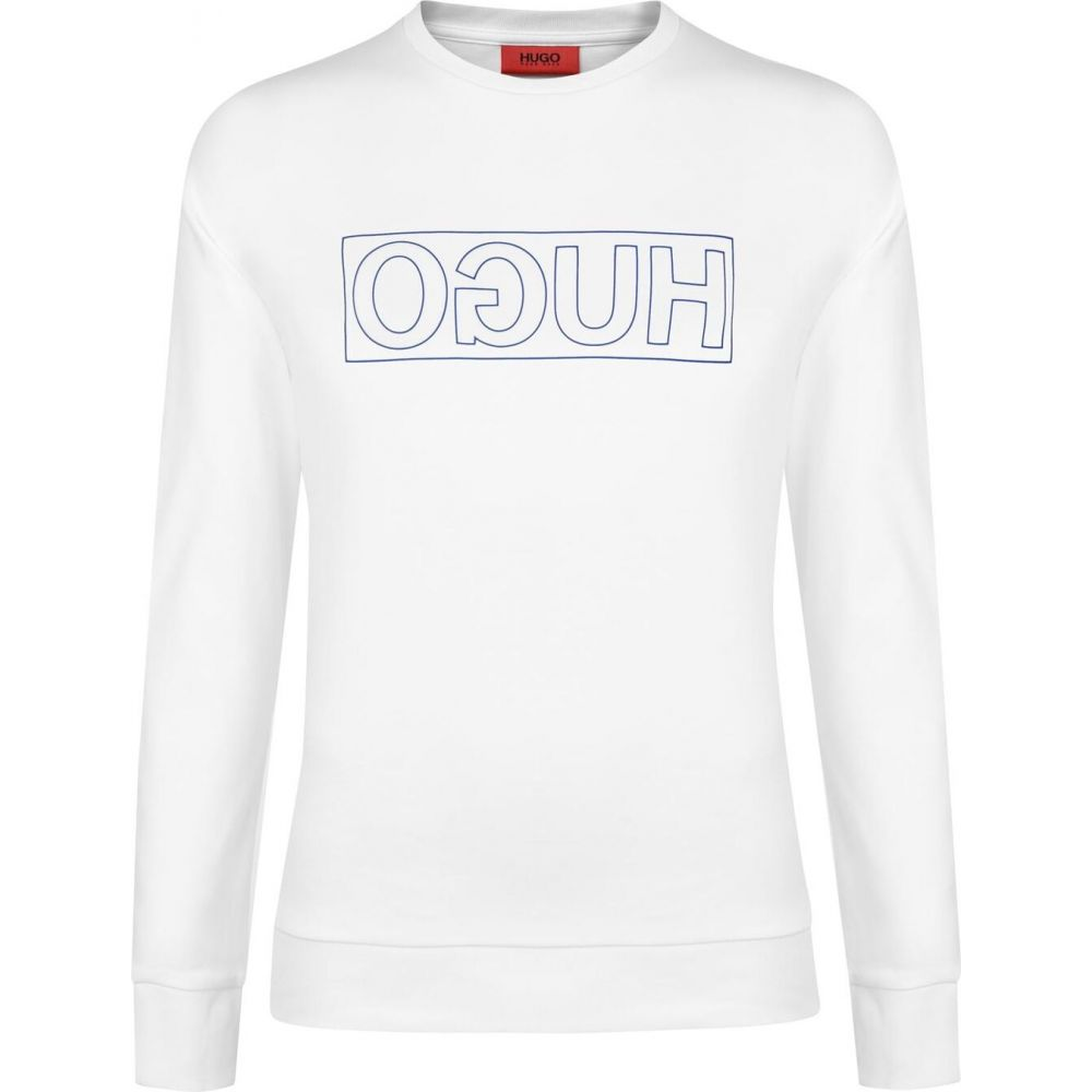 ヒューゴ ボス HUGO メンズ スウェット・トレーナー トップス【Dicago Sweatshirt】White/Blue
