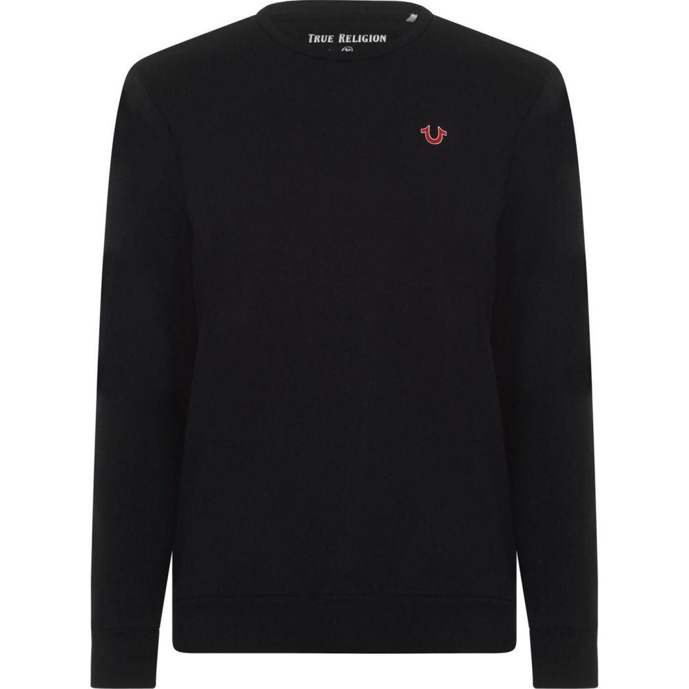 トゥルー レリジョン TRUE RELIGION メンズ スウェット・トレーナー トップス【Logo Sweatshirt】Black