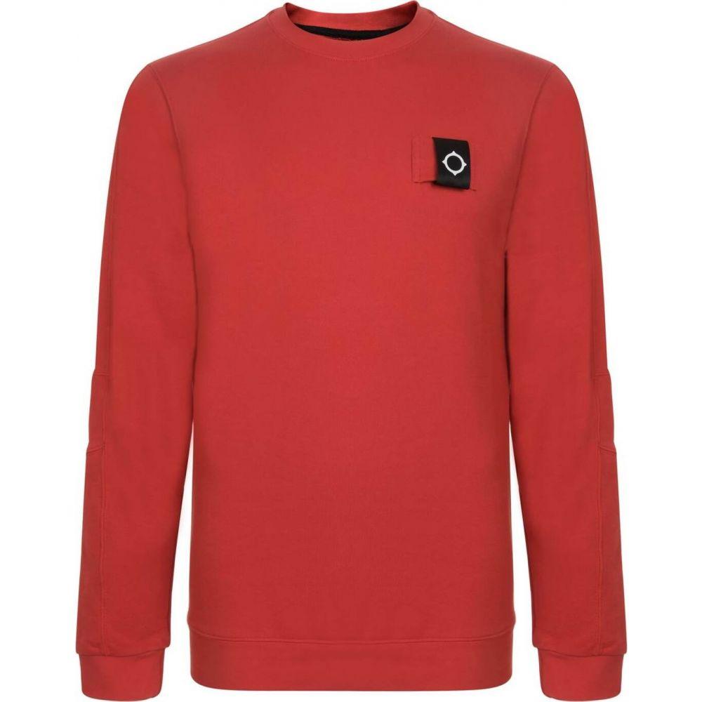 マストラム MA STRUM メンズ スウェット・トレーナー トップス【Logo Crew Neck Sweatshirt】Red (SMU)