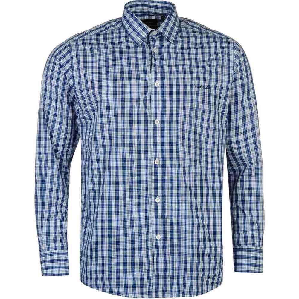 ピエール カルダン メンズ トップス シャツ Blue Check Shirt Long Pierre 2020モデル Sleeve 日本製 サイズ交換無料 Cardin