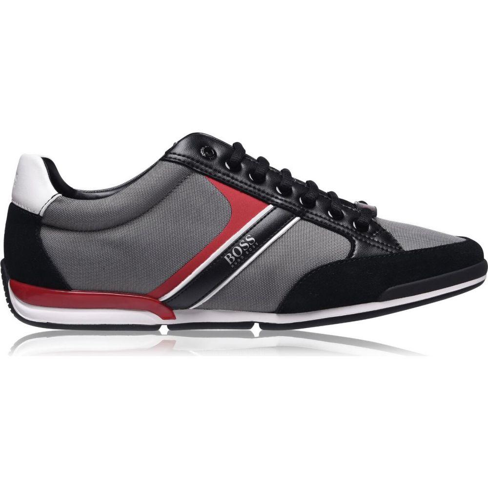 ヒューゴ ボス メンズ シューズ 靴 スニーカー ハイクオリティ 日本正規代理店品 Grey Red BOSS Low Trainers ローカット Top サイズ交換無料 Saturn