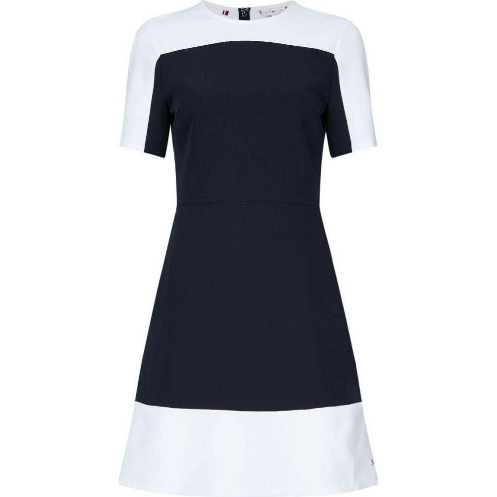 トミー ヒルフィガー Tommy Hilfiger レディース ワンピース ワンピース・ドレス【Angela Panel Dress】NAVY/WHITE