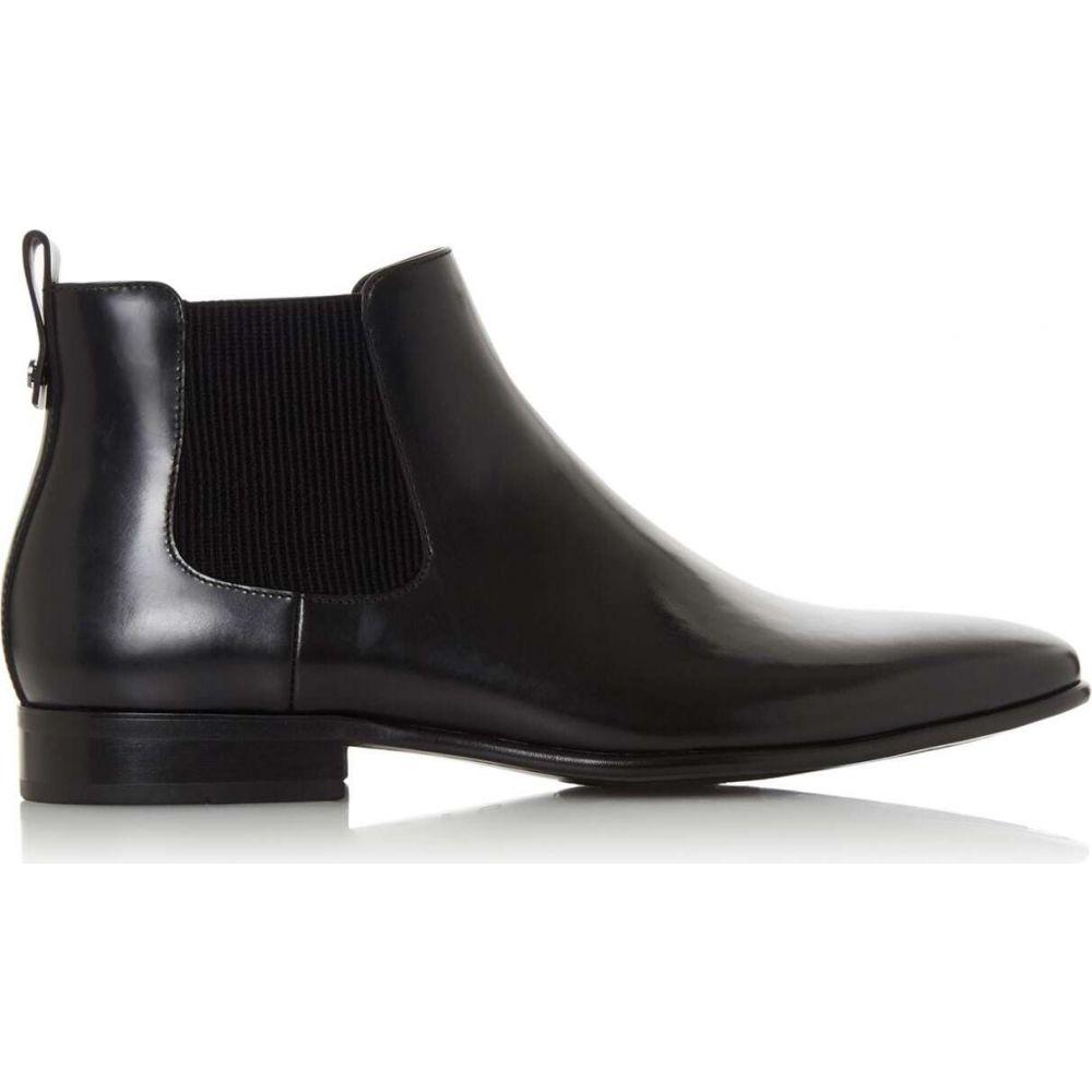 デューン Dune London メンズ ブーツ チェルシーブーツ シューズ・靴【Morton Leather Ribbed Chelsea Boots】Black
