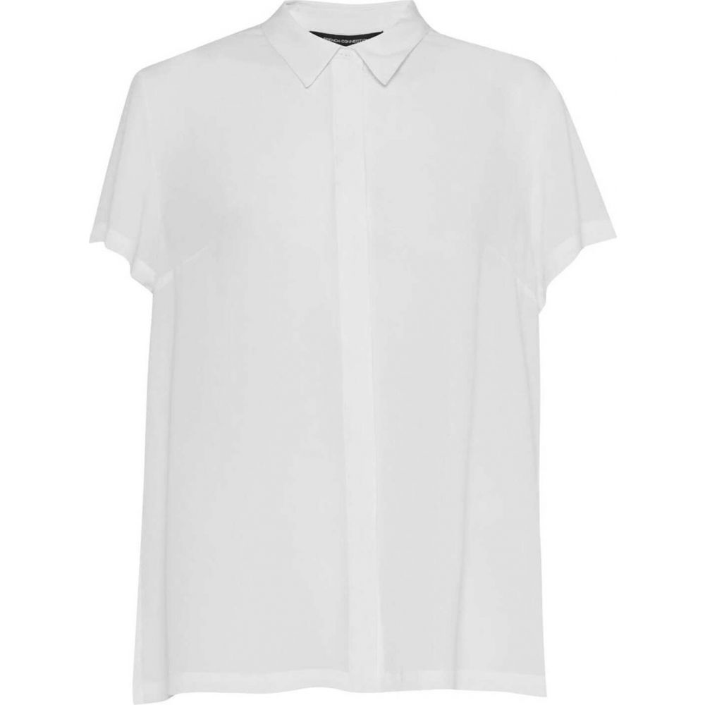 フレンチコネクション French Connection レディース ブラウス・シャツ トップス【Classic Crepe Short Sleeve Shirt】White