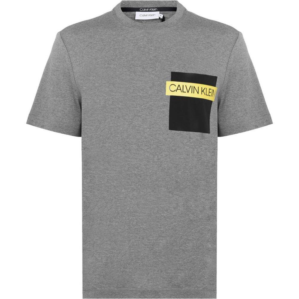 カルバンクライン CALVIN KLEIN メンズ Tシャツ ポケット トップス【Nylon Pocket T Shirt】Grey PA:フェルマート
