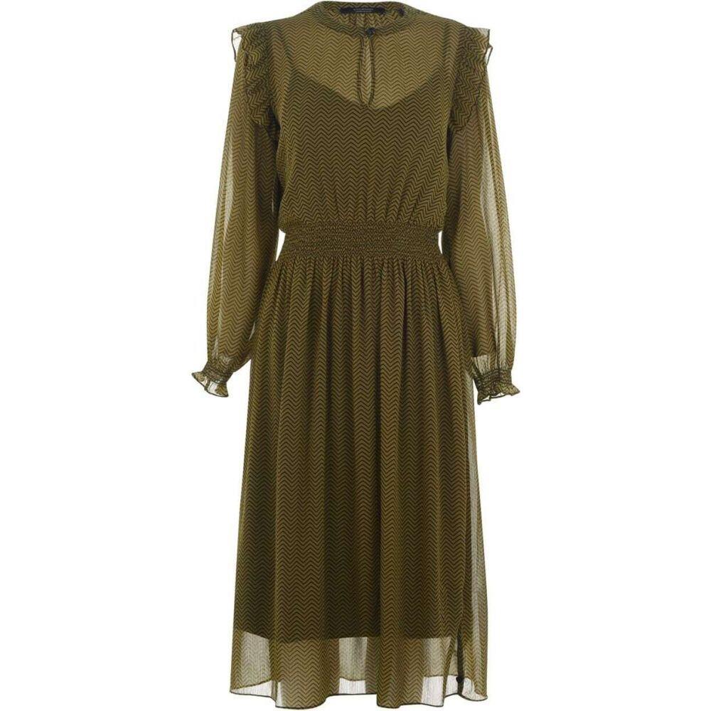 メゾンスコッチ Maison Scotch レディース ワンピース ワンピース・ドレス【printed dress with elastic in waist】Khaki