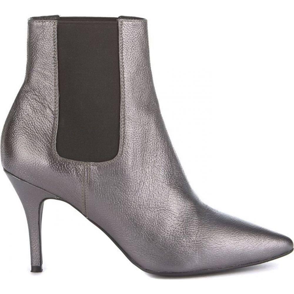 ミルトン ベルベット Mint Velvet レディース ブーツ キトゥンヒール シューズ・靴【Gunmetal Zara Kitten Heel Boot】Metallic