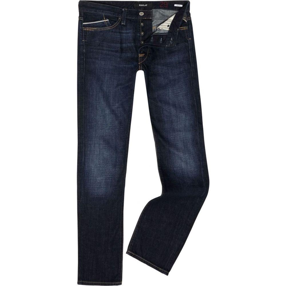 リプレイ Replay メンズ ジーンズ・デニム ボトムス・パンツ【Waitom Regular Slim Fit Jeans】Blue