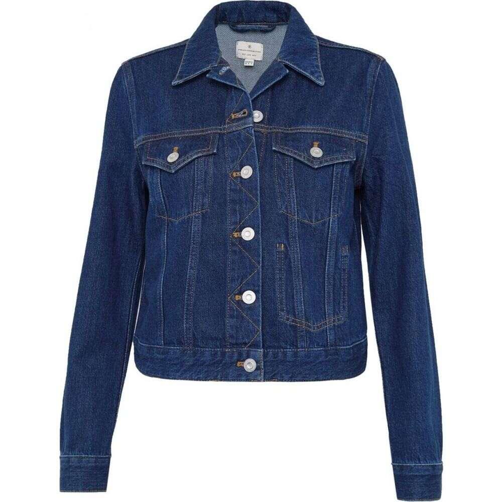 フレンチコネクション French Connection レディース ジャケット Gジャン アウター【Macee Micro Western Denim Jacket】Mid Blue