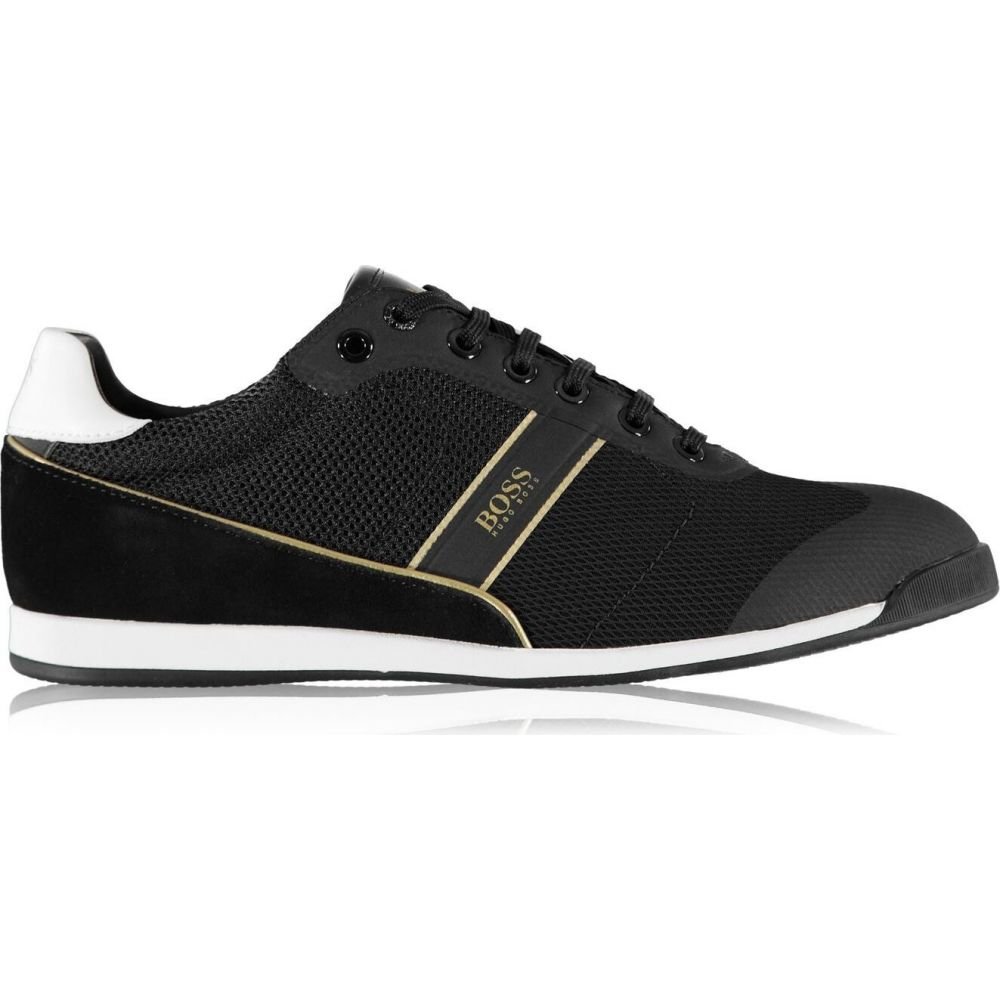 ヒューゴ ボス メンズ シューズ 靴 スニーカー 豊富な品 Black Boss 限定品 Trainers Glaze サイズ交換無料 Mesh